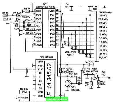 принципиальная схема частотомера